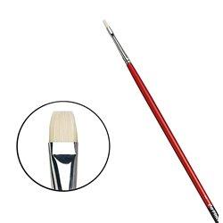 Плоская щетина №1 ( длин. черно-красная ручка)