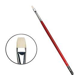 Плоская щетина №3 ( длин. черно-красная ручка)
