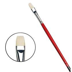 Плоская щетина №5 ( длин. черно-красная ручка)