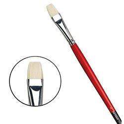 Плоская щетина №8 ( длин. черно-красная ручка)