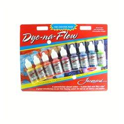 Набор аэрографических красок Dye-na-Flow, 9 цв в блистере