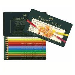 Набор цветн.карандашей Polychromos Faber Castell 12 цв.в метал.кор.