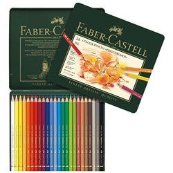Набор цветн.карандашей Polychromos Faber Castell 24 цв.в метал.кор.