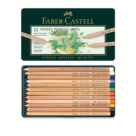 Набор пастельных карандашей PITT Pastel 12 цв в метал. коробке