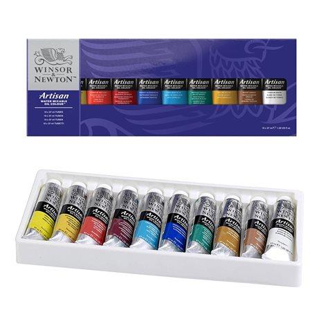 Набор водорастворимых масляных красок Artisan, тюбики 10х37мл,брошюра, в картонной коробке