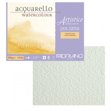 Склейка для акварели Artistico 23х30,5см, 300г, 20л./ холодн.прессования