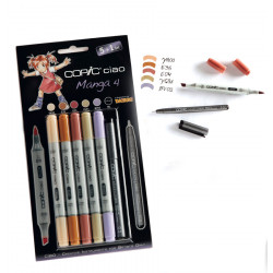 "Набор маркеров ""COPIC CIAO Manga 4"" (5+1 шт)"