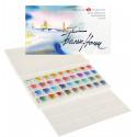 Набор акварельных красок Белые Ночи 36 цветов в пластике с палитрой