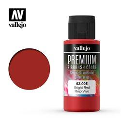 Краска акрил-уретановая Vallejo Premium/ красный яркий