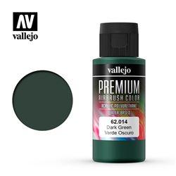 Краска акрил-уретановая Vallejo Premium/ зеленый темный