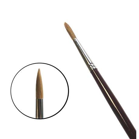 Кисть круглая da Vinci 1650/ушной волос/дл. ручка/№ 12
