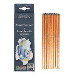 Карандаши пастельные 8 цветов для рисования натюрмортов
