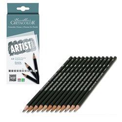 Набор 12 графитовых карандашей Artist Studio Line, твердости: 6B, 4B, 3B, 2B, B, 2xHB