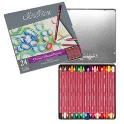 Набор цветных карандашей KARMINA, 24 цветов, металлическая коробка