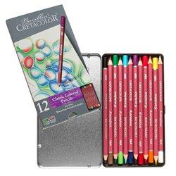 Набор цветных карандашей KARMINA, 12 цветов, металлическая коробка