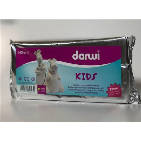 Модельная масса DARWI-KIDS/белая/ 1 кг