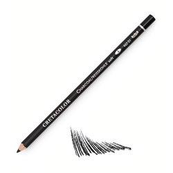 Угольный карандаш, круглый корпус диаметром 7,5 мм, диаметр стержня 3,8 мм, твердость 1 (мягкий)