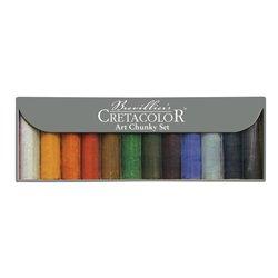 Набор цветных угольных брусков ART CHUNKY, 10 цветов + уголь и графит