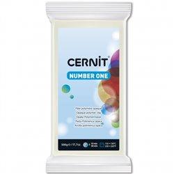 """Полимерный моделин """"Cernit Number One"""" 500 гр./белый укрывистый 027"""