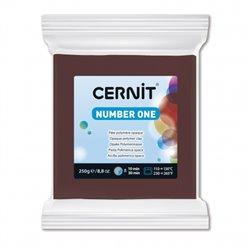 """Полимерный моделин """"Cernit Number One"""" 250 гр./коричневый 800"""