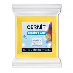 """Полимерный моделин """"Cernit Number One"""" 250 гр./желтый 700"""