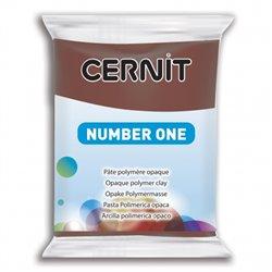 """Полимерный моделин """"Cernit Number One"""" 56гр. коричневый 800"""