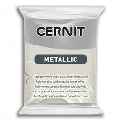 """Полимерный моделин """"Cernit Metallic"""" 56гр. серебро"""