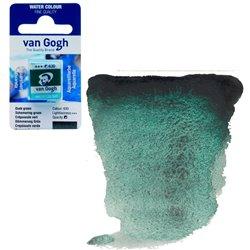 Краска акварельная Van Gogh кювета №630 Сумерочно-зеленый