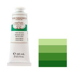 "Краска офортная Lefranc&Bourgeois ""Charbonnel"" средняя зелень/т.60мл"