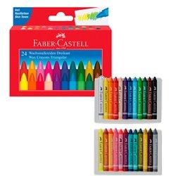 """Набор 3-гранных восковых мелков """"Faber Castel"""" 24 цв. в карт.коробке"""