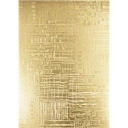 """Бумага фольгинированная,тисненая,золото, 215 г/см,23х33см,""""Структуры"""""""