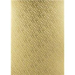 """Бумага фольгинированная,тисненая,золото, 215 г/см,23х33см,""""Песок"""""""