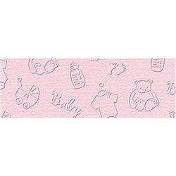 """Рильефный картон """"Рококо"""" 220г/м2 23 х 33 см / розовый"""