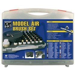 Набор Аэрографический Model Air (29цв.) + аэрограф