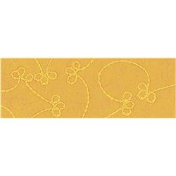 Бумага ручной работы с вышивкой 50х70/100г/м Оранжевая