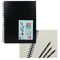 Альбом Sketch Book А4 для эскизов 86 л., 110 гр /спираль, тв. винил.обложка