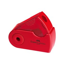 Точилка SLEEVE Faber-Castell мини-простая красный/синий