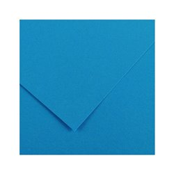 22. Картон цв. Vivaldi 50x65 пл.240гр/м Лазурный голубой