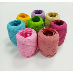 Бечёвка из пальмового лыка RAFIA 20 м/для подарочн. упаковки цвет в ассорт