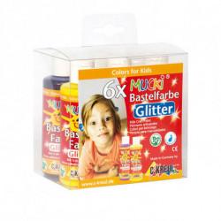 Набор красок для детского творчества Mucki Kreul с глиттером 6 цв по 80 мл