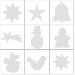 Картонные рождественские орнаменты для декорирования Joypac 13 шт.