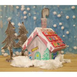 Рождественский домик, картонный набор для декорирования Joypac