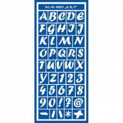 """Трафарет универсальный """"A, B, C"""""""