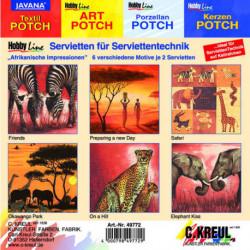 """Набор салфеток для декупажа (6 мотивов по 2 шт) """"Африканские впечатления"""""""