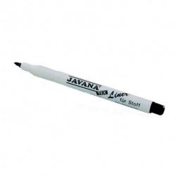 """Маркер- лайнер для тканей черный, """"Javana"""""""