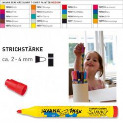 Маркер Texi Max Sunny Серый/ для светл. тканей 2-4 мм