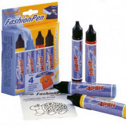 Набор красок по тканям Textil Fashion Pen 4 цв.по 29 мл