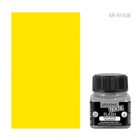 Краска по тканям Javana Textil Flash Неоновый желтый