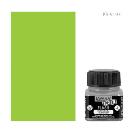 Краска по тканям Javana Textil Flash Неоновый зеленый
