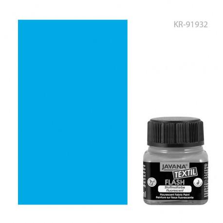 Краска по тканям Javana Textil Flash Неоновый синий